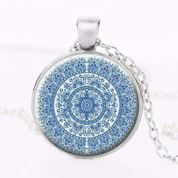 Zen Jewelry Zen Necklace Meditative Jewelry Lapis Lazuli Yoga Necklace Yogi Necklace